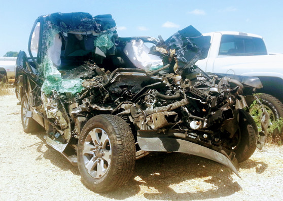 Totalled car