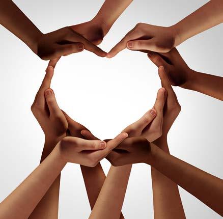 Helping Hands together