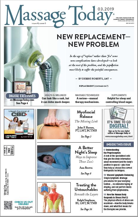 Massage Today Volume 19, Issue 3 Image