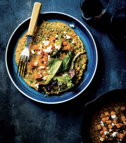 Spiced Chickpea Pancake