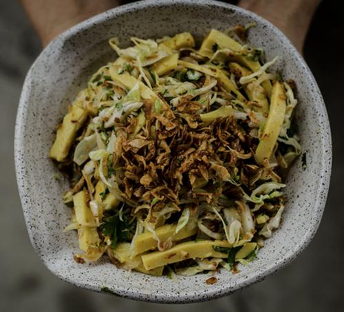 Burmese Chickpea Tofu Salad (Soy-Free)