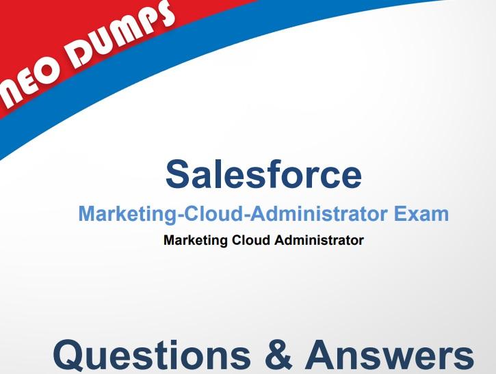 PDF (New 2021) Actual Salesforce Marketing-Cloud-Administrator Exam Dumps