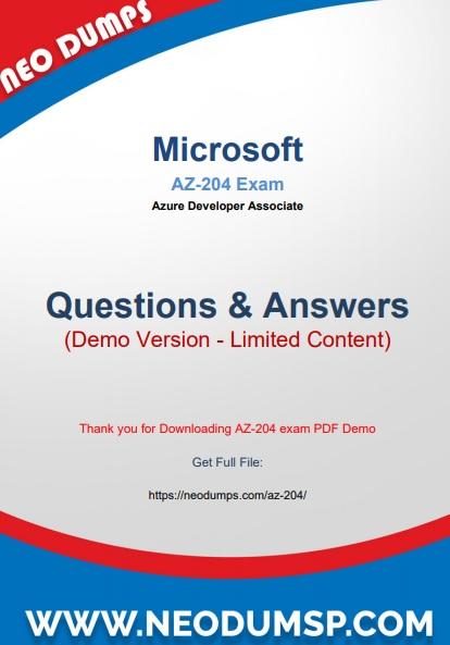 PDF (New 2021) Actual Microsoft AZ-204 Exam Dumps