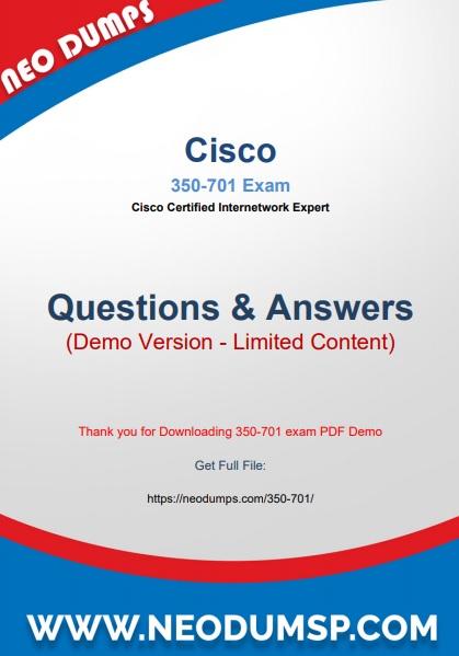 PDF (New 2021) Actual Cisco 350-701 Exam Dumps