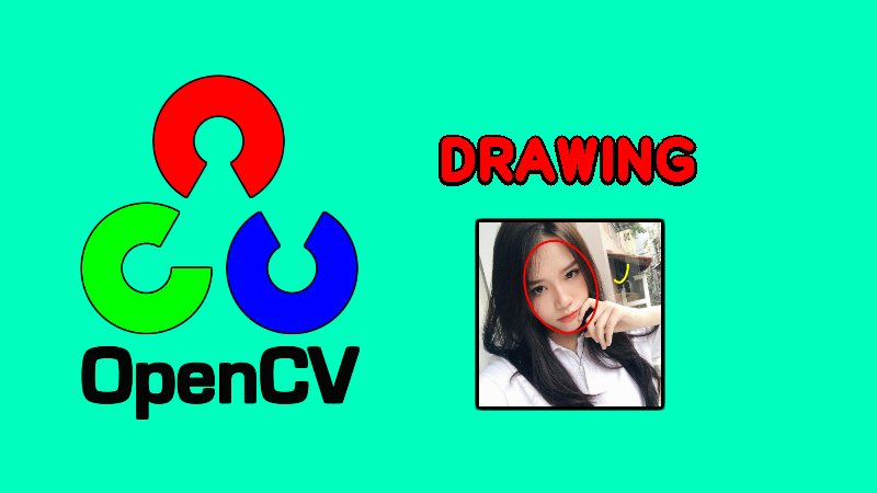 OpenCV: vẽ văn bản, đường thẳng, mũi tên, hình chữ nhật, hình tròn, ellipse, đa giác