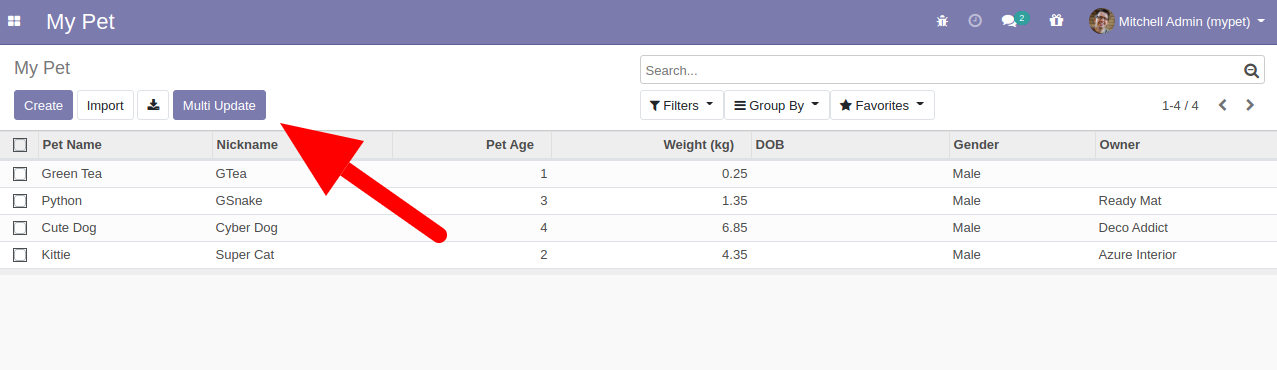 odoo add button control panel list view