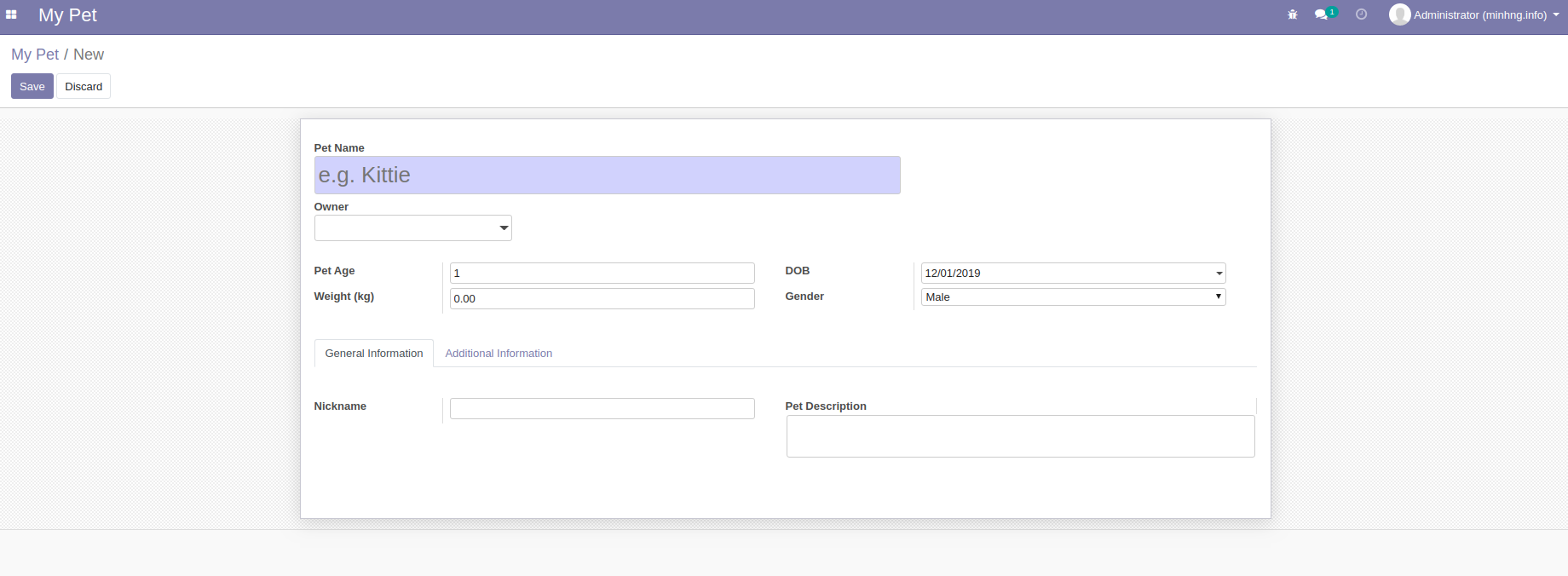 odoo 13 form view