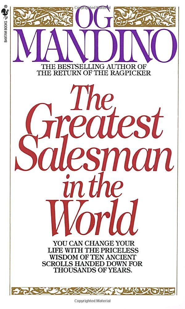 book summary - The Greatest Salesman in the World by Og Mandino