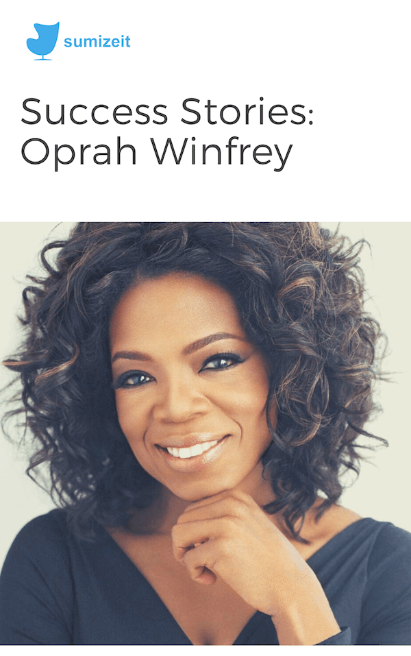 book summary - Oprah Winfrey by Sumizeit Team