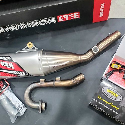 RMZ 250 PARTS PACKAGE TI EXHAUST AND VORTEX OGNITION