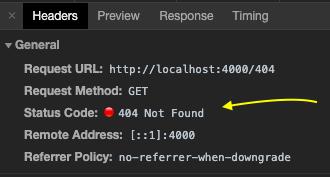 404 status code screenshot