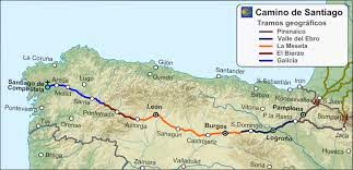 Mapa Camino a Santiago