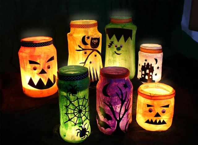 Spooky Halloween Lantern Making