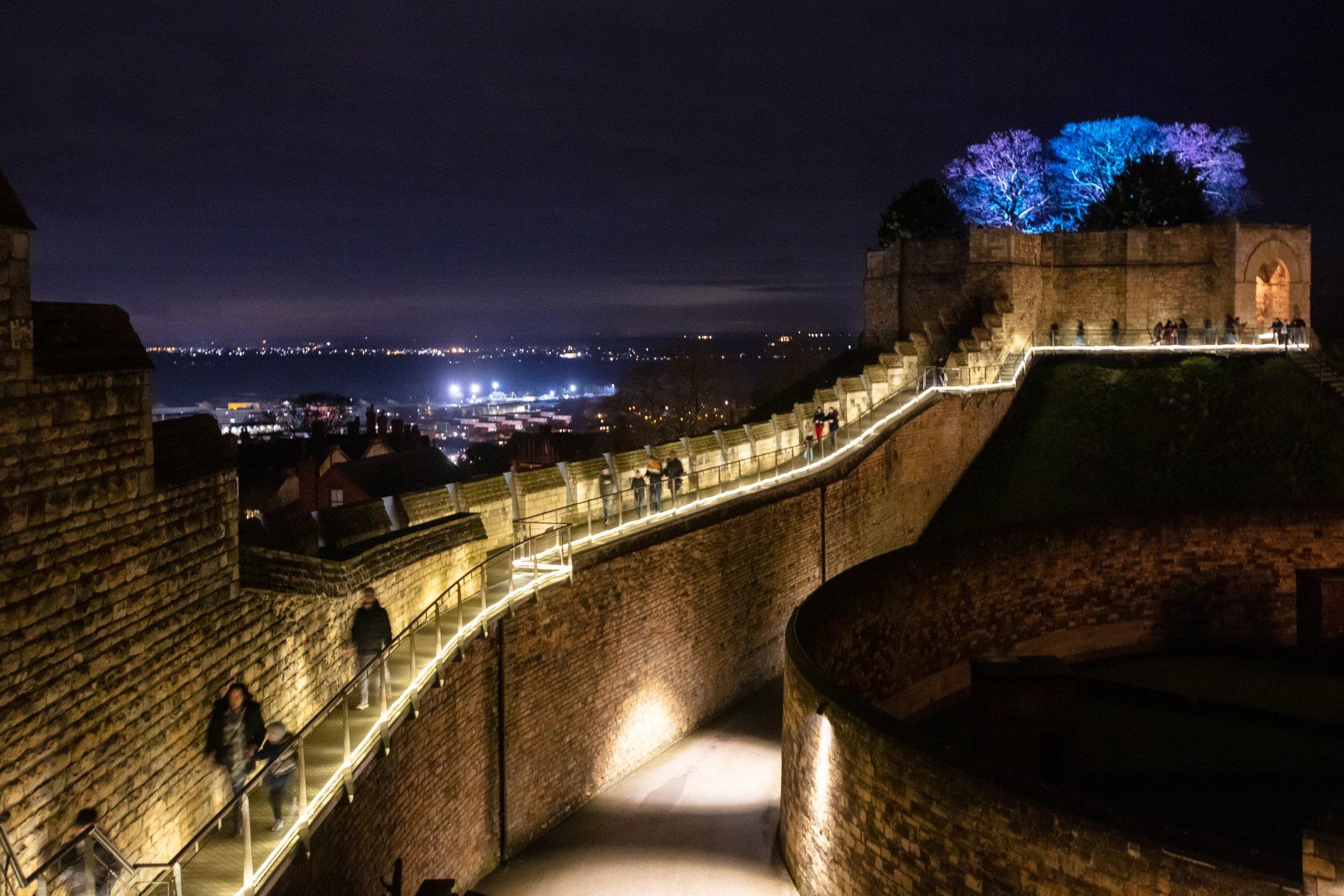 Lincoln Castle Illuminated