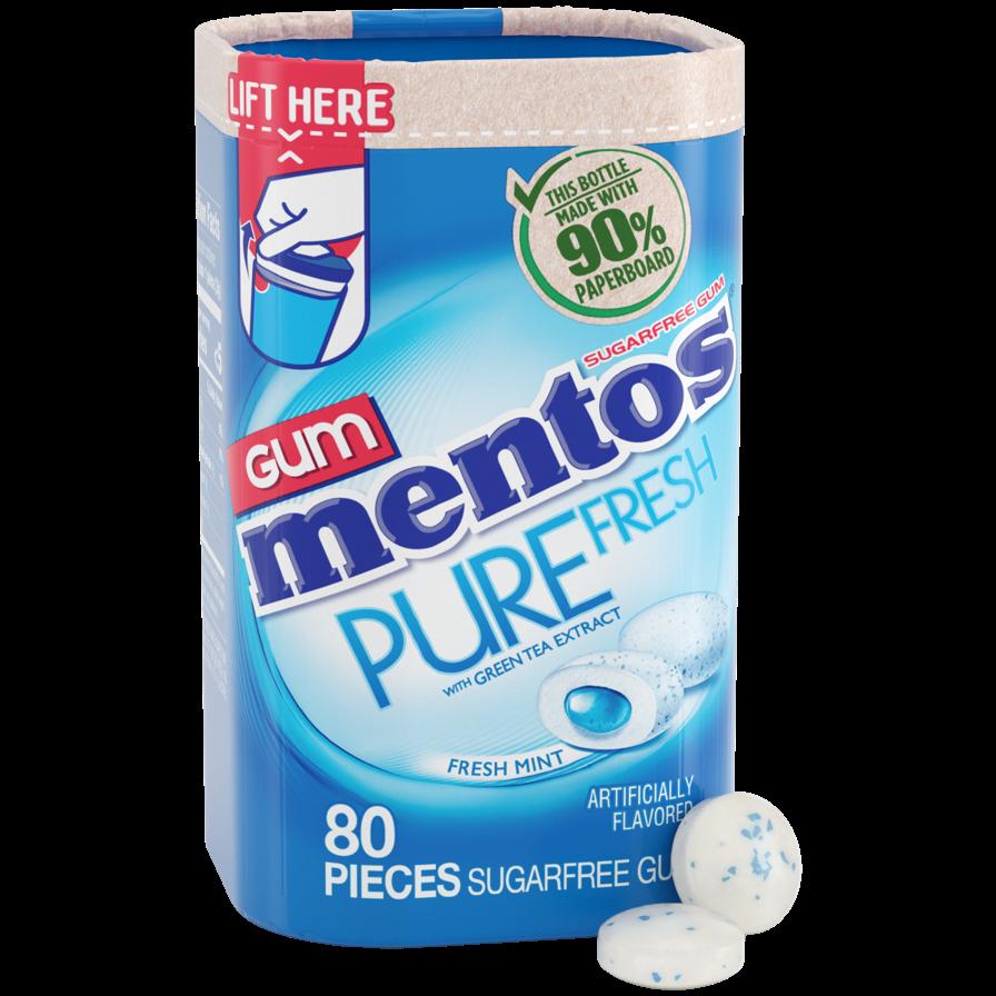 Mentos Gum Paperboard Bottle