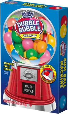 Dubble Bubble Gumball Machine Box