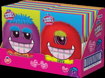 Dubble Bubble Monster Valentine Cards