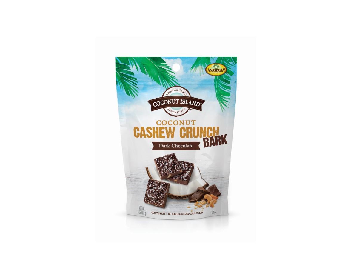 Coconut Cashew Crunch BARK, Dark Chocolate
