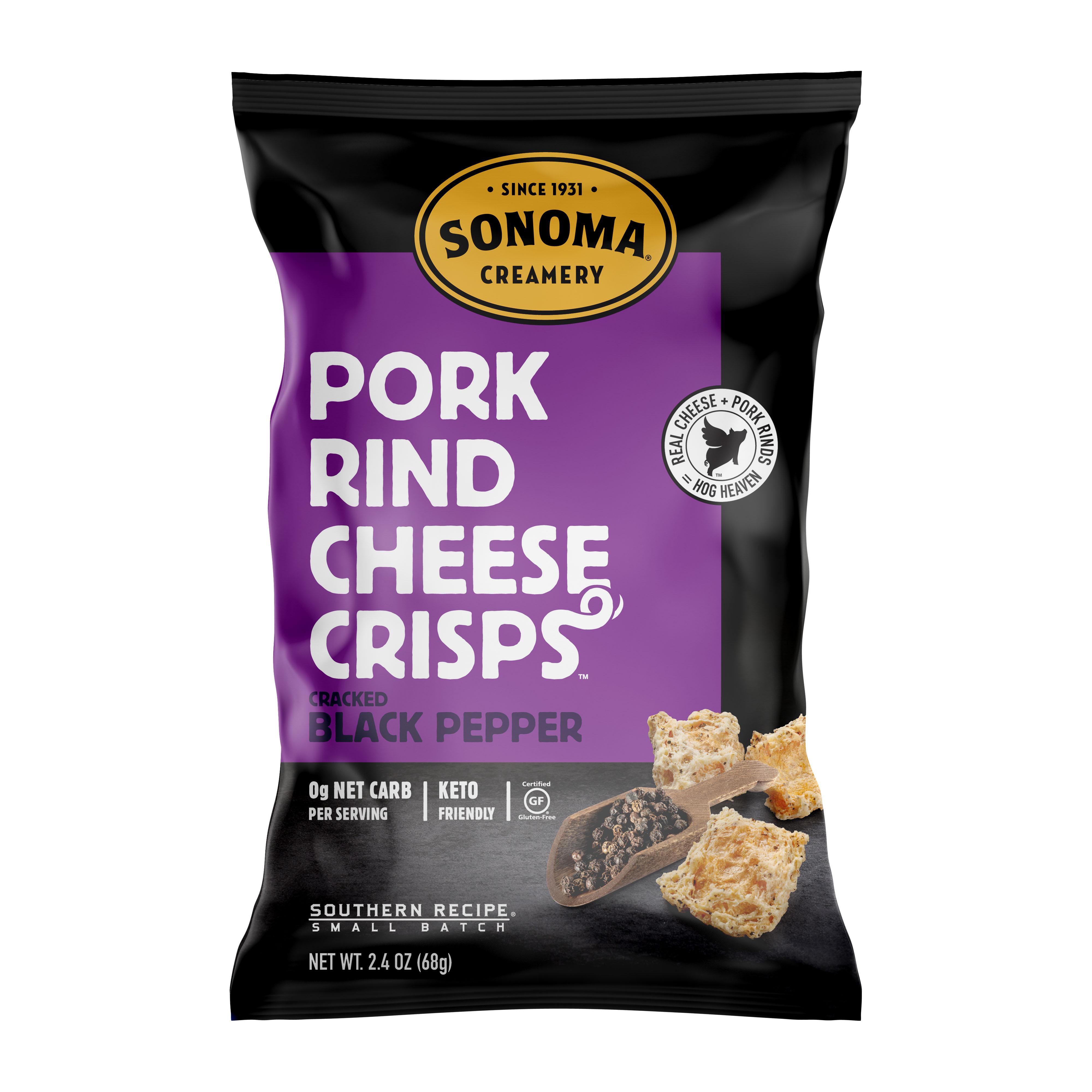 Pork Rind Cheese Crisps/Black Pepper