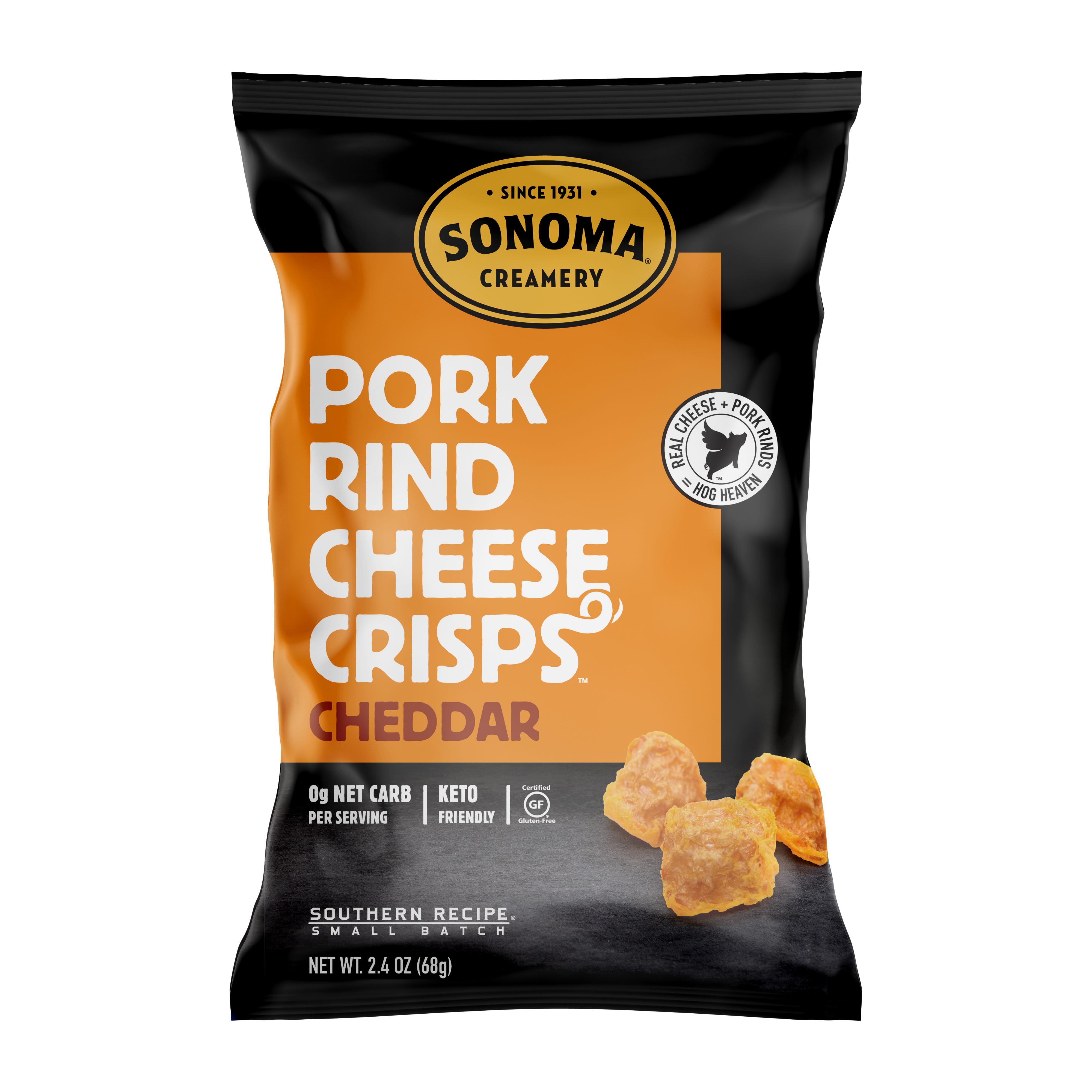 Pork Rind Cheese Crisps/Cheddar