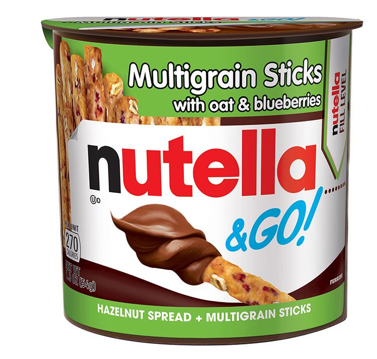 Nutella & GO! Multigrain Sticks with Oat & Blueberries