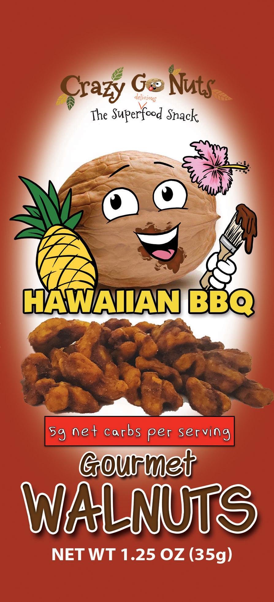 Hawaiian BBQ Walnut Snacks