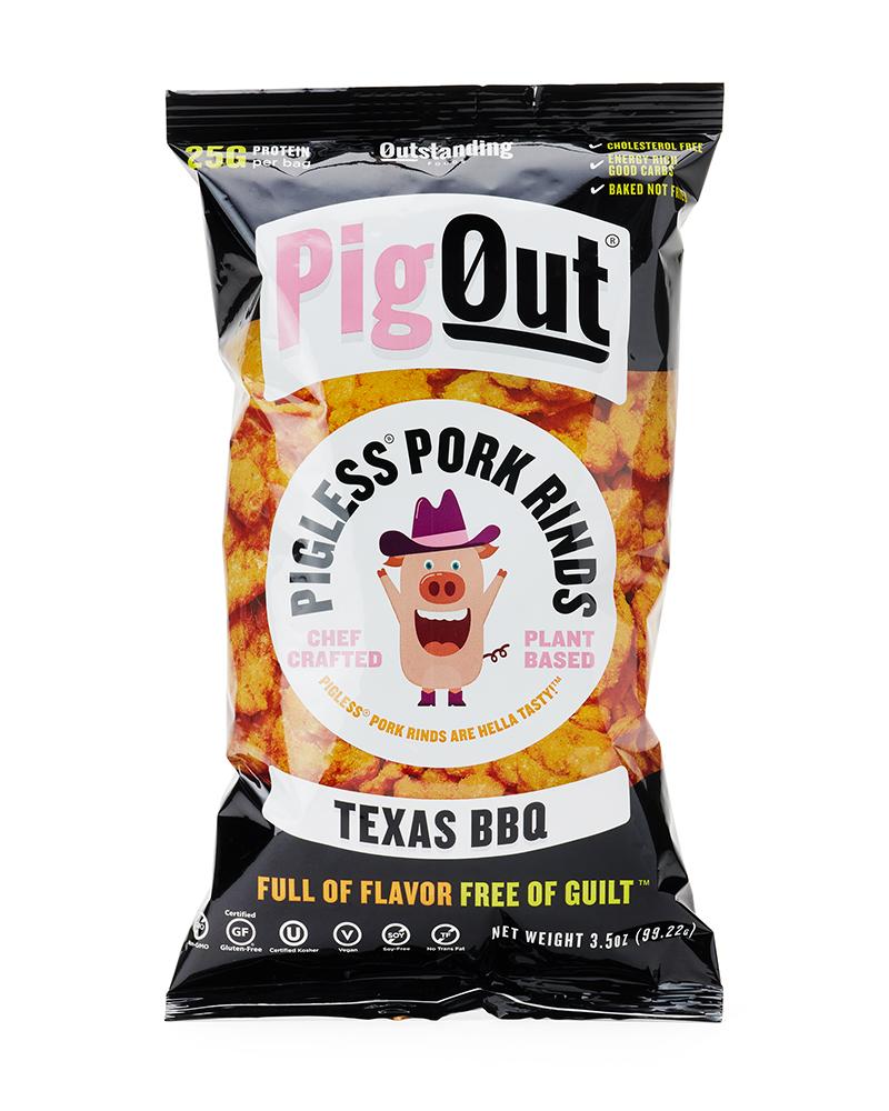 PigOut Pigless Pork Rinds - Texas BBQ