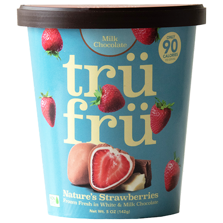 Natures Strawberries Hyper-Chilled Fresh in White Chocolate & Milk Chocolate