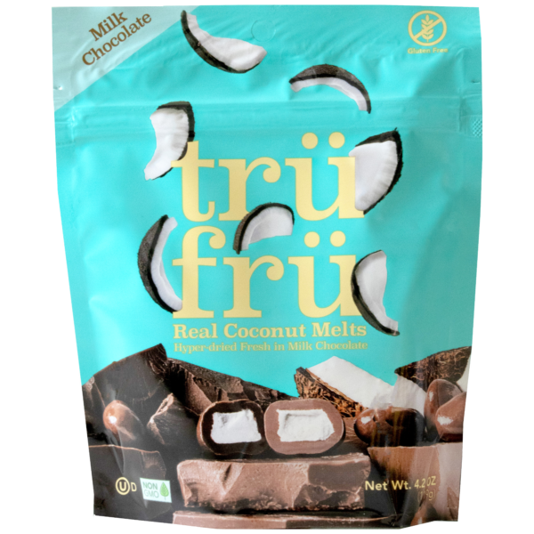Real Coconut Melts Hyper-Dried Fresh in Milk Chocolate