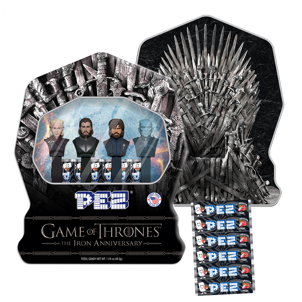 Game of Thrones Gift Tin with Dragonfruit PEZ Candy