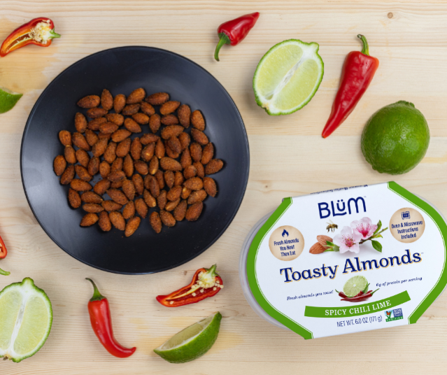 Spicy Chili Lime Toasty Almonds