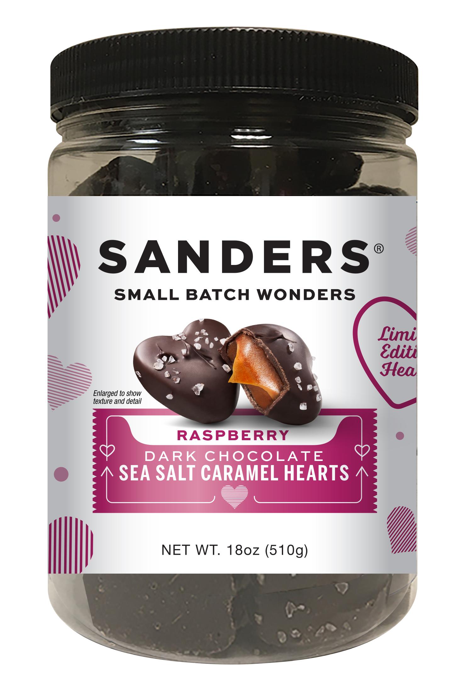 Dark Chocolate Raspberry Sea Salt Caramels