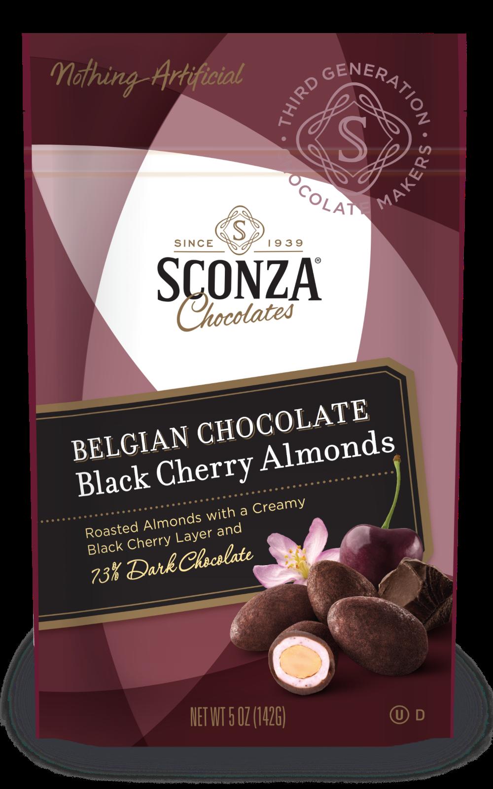 Belgian Chocolate Black Cherry Almonds