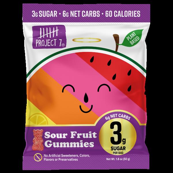 Project 7 Sour Fruit Gummies