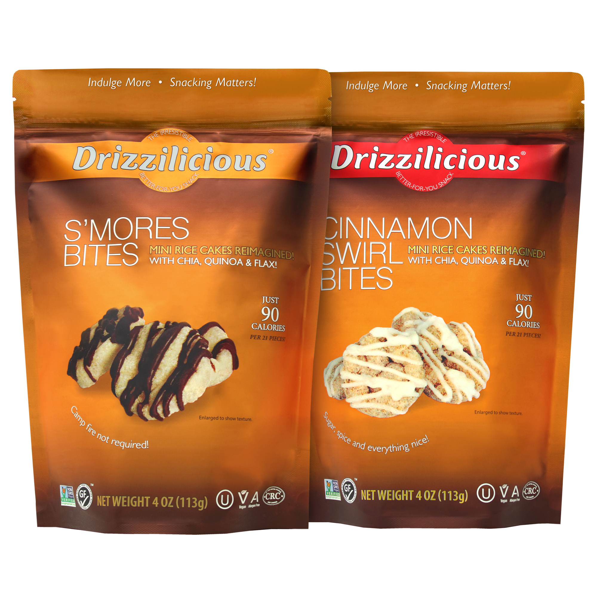 Drizzilicious Mini Rice Cakes and Popcorn