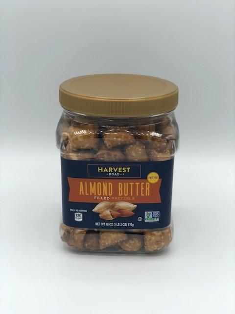 Almond Butter Filled Pretzels