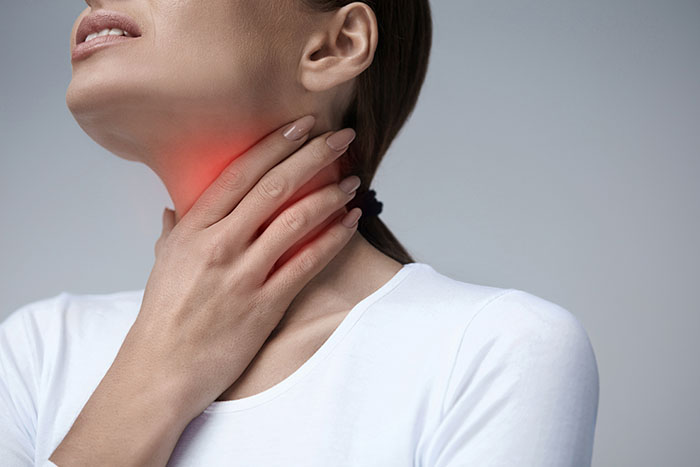Image showing a patient of sore throat