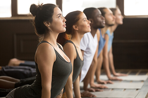 a group performing physical activity