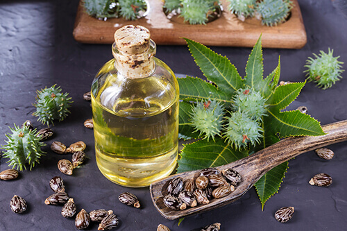 castor oil to reduce swelling of the cyst