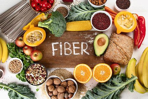 consume fiber rich diet in piles