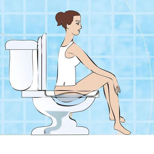 Portraying how sitz bath work