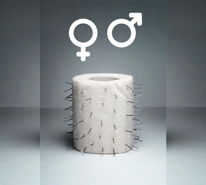 piles in men verus women