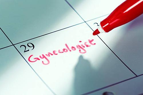 gynecologist written on calendar