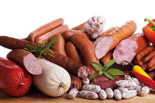 pictorial representation of processed meat