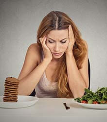 Problems in swallowing Food
