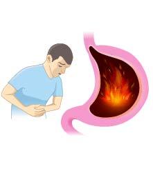 Abdominal burning sensation