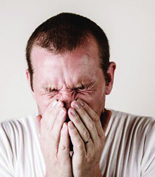Pain increases when taking deep breaths, cough, or sneeze