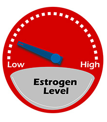 Low estrogen levels at menopause