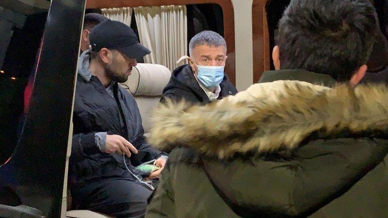 Bakasetas Trabzonspor Başkanı Ahmet Ağaoğlu ile Trabzon'a geldi