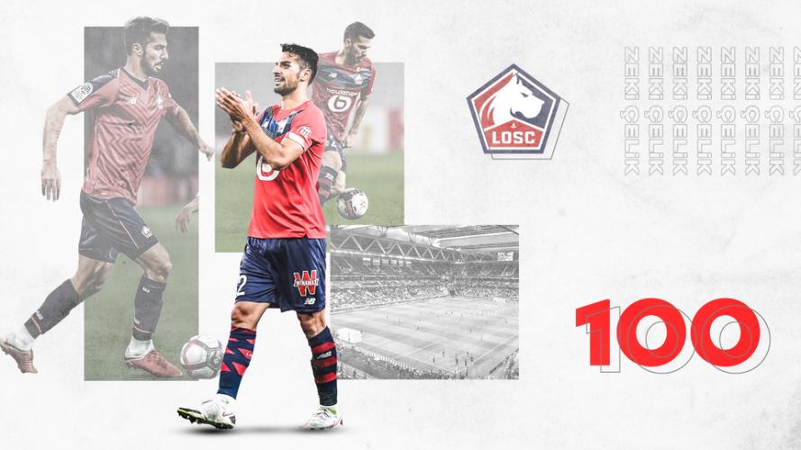 Zeki Çelik Lille 100. maçına çıktı